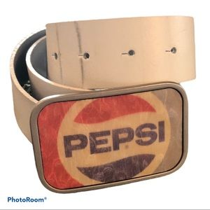 Vintage 90s? PEPSI buckle and leather belt